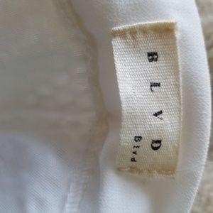 BLVD Skirts - BLVD Skirt.  White.  Mesh over underskirt.